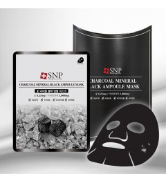 SNP Charcoal Mineral Black Ampoule Mask(10pcs)