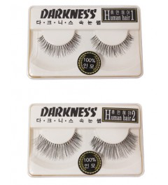 Darkness False Eyelashes Human Hair Series (6 Types)