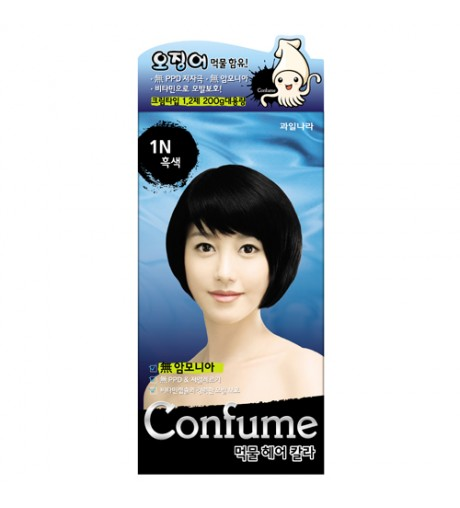 Fruit Land Squid Ink Hair Color 1N (Black)