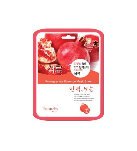 Natureby Pomegranate Essence Mask Sheet (10pcs)