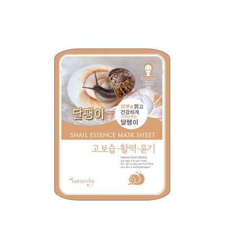 Natureby Snail Essence Mask Sheet (10pcs)